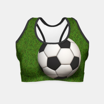 Thumbnail image of Ball Sport Soccer New Black Crop Top, Live Heroes