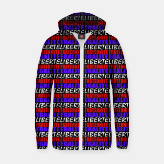 Miniatur French Revolution Typographic Pattern Design Cotton zip up hoodie, Live Heroes