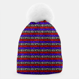 Miniatur French Revolution Typographic Pattern Design Beanie, Live Heroes