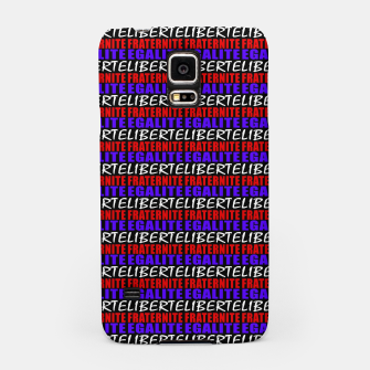 Miniatur French Revolution Typographic Pattern Design Samsung Case, Live Heroes