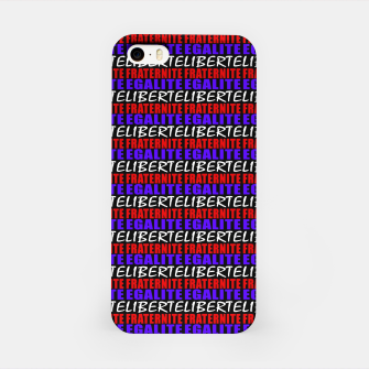 Miniatur French Revolution Typographic Pattern Design iPhone Case, Live Heroes