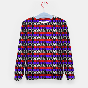 Miniatur French Revolution Typographic Pattern Design Kid's sweater, Live Heroes