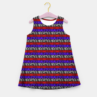Miniatur French Revolution Typographic Pattern Design Girl's summer dress, Live Heroes