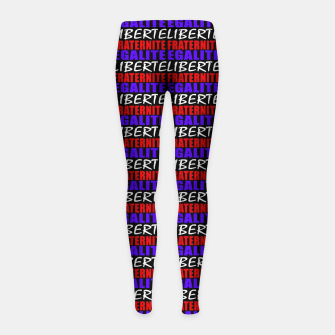 Miniatur French Revolution Typographic Pattern Design Girl's leggings, Live Heroes