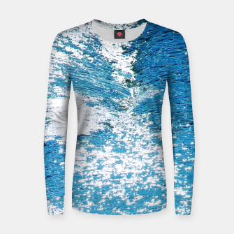 Thumbnail image of Hard Water Waves Abstract |  Woman cotton sweater, Live Heroes