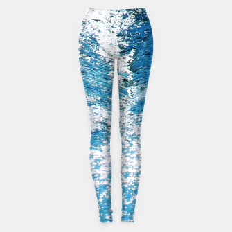 Thumbnail image of Hard Water Waves Abstract |  Leggings, Live Heroes