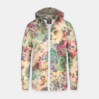 Flower Abstraction Cotton zip up hoodie Bild der Miniatur
