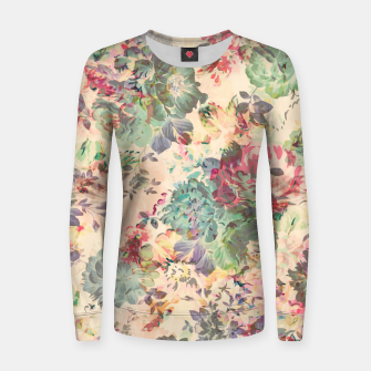 Flower Abstraction Woman cotton sweater Bild der Miniatur