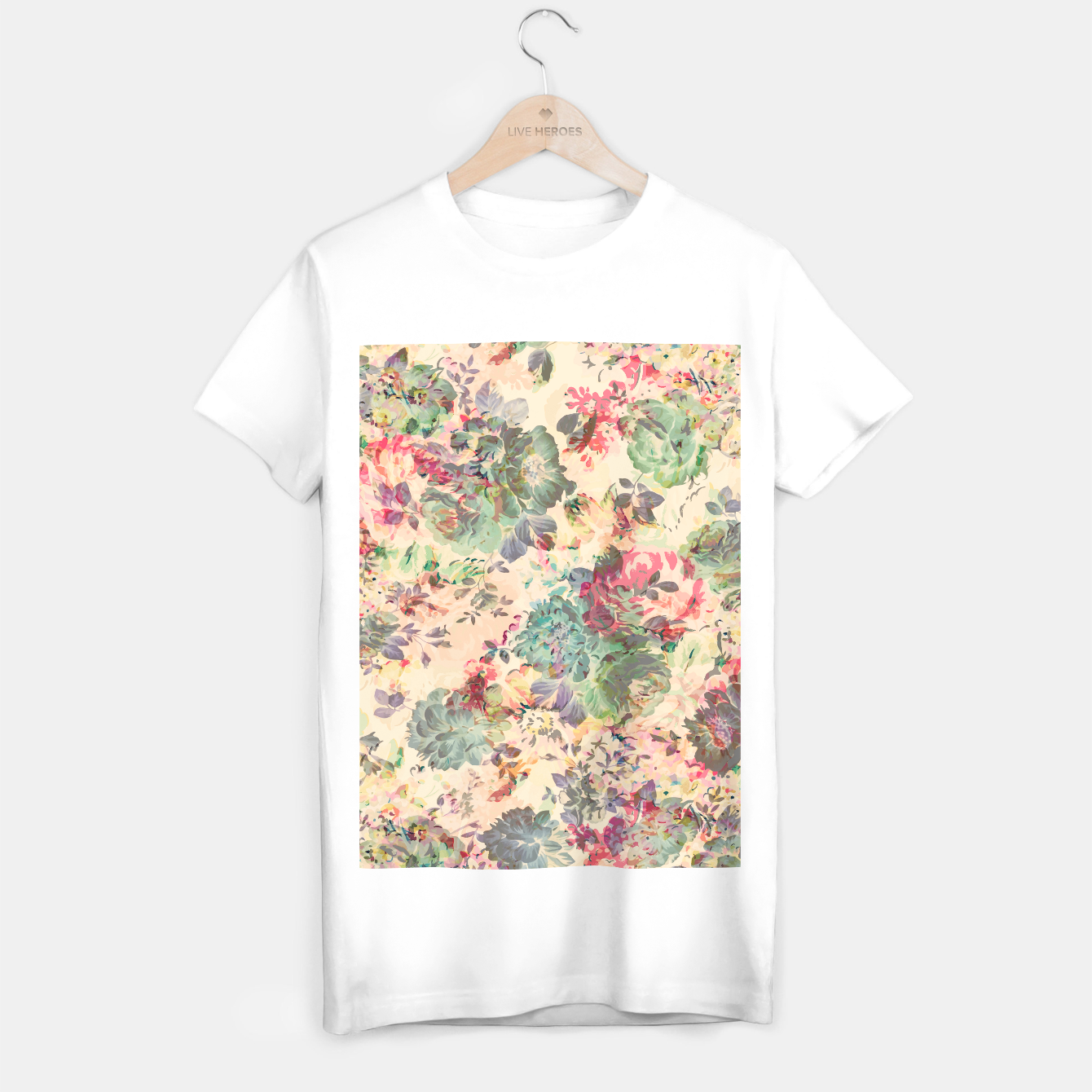 Foto Flower Abstraction T-shirt regular - Live Heroes