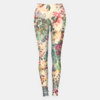 Miniatur Flower Abstraction Leggings, Live Heroes