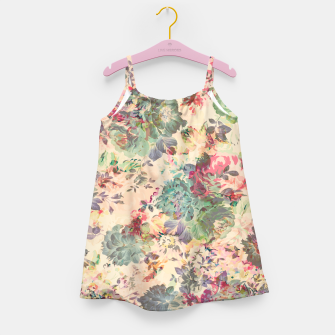 Flower Abstraction Girl's dress Bild der Miniatur
