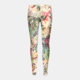 Flower Abstraction Girl's leggings Bild der Miniatur