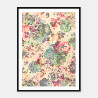 Flower Abstraction Framed poster Bild der Miniatur