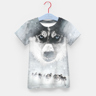 Winter Huskys T-Shirt für kinder thumbnail image