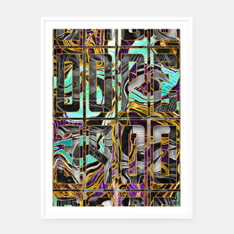 Thumbnail image of DOPE Pattern Framed poster, Live Heroes