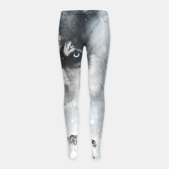 Winter Huskys Kinder-Leggins obraz miniatury