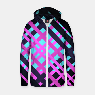 Thumbnail image of Geometric vibrant sport Cotton zip up hoodie, Live Heroes