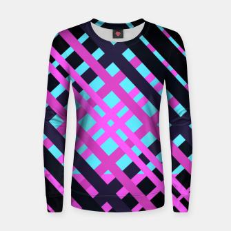 Thumbnail image of Geometric vibrant sport Woman cotton sweater, Live Heroes