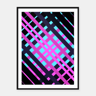 Thumbnail image of Geometric vibrant sport Framed poster, Live Heroes