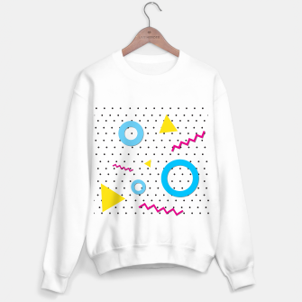 Miniatur Pop art geometric 80s 90s Sweater regular, Live Heroes