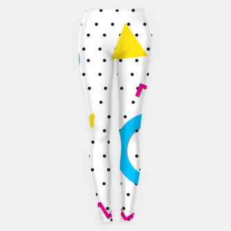 Miniatur Pop art geometric 80s 90s Leggings, Live Heroes
