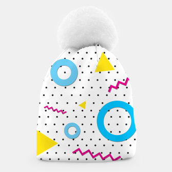 Thumbnail image of Pop art geometric 80s 90s Beanie, Live Heroes