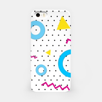 Miniatur Pop art geometric 80s 90s iPhone Case, Live Heroes