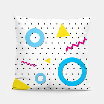 Miniatur Pop art geometric 80s 90s Pillow, Live Heroes