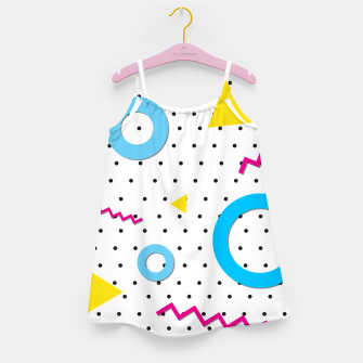 Miniaturka Pop art geometric 80s 90s Girl's dress, Live Heroes