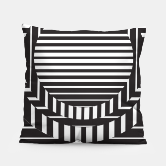 Thumbnail image of black white geometric abstract Pillow, Live Heroes