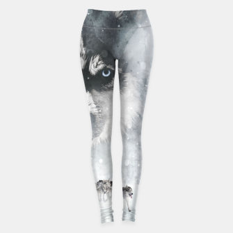 Winter Huskys Leggings obraz miniatury