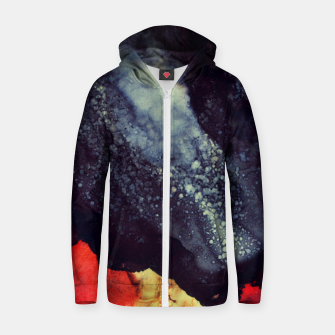 Thumbnail image of Scarlet Abstract Cotton zip up hoodie, Live Heroes