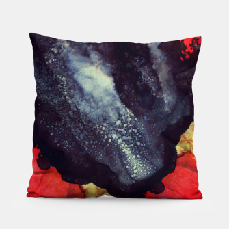 Thumbnail image of Scarlet Abstract Pillow, Live Heroes