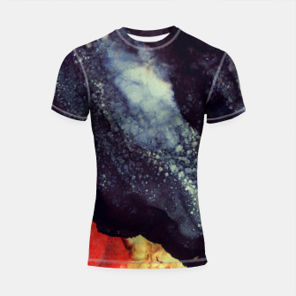 Thumbnail image of Scarlet Abstract Shortsleeve rashguard, Live Heroes