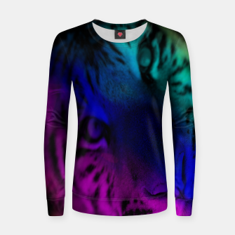 Thumbnail image of Rainbow Tiger Woman cotton sweater, Live Heroes