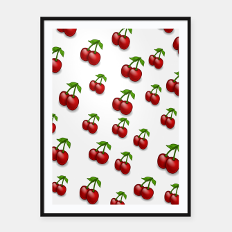 Thumbnail image of Cherries Framed poster, Live Heroes