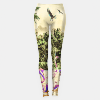Thumbnail image of Flamingos on the beach 01 Leggings, Live Heroes