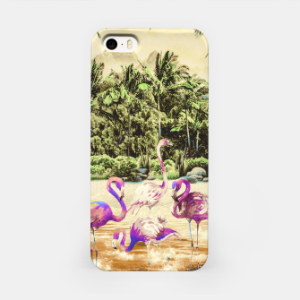 Thumbnail image of Flamingos on the beach 01 Carcasa por Iphone, Live Heroes
