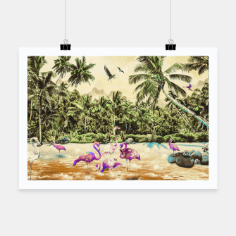 Thumbnail image of Flamingos on the beach 01 Cartel, Live Heroes