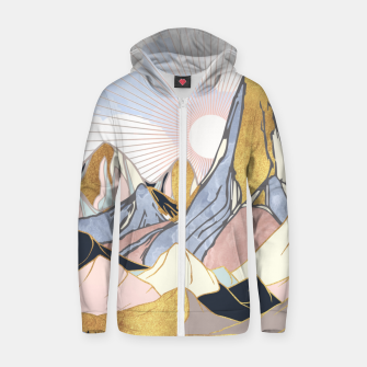 Thumbnail image of Summer Morning Cotton zip up hoodie, Live Heroes