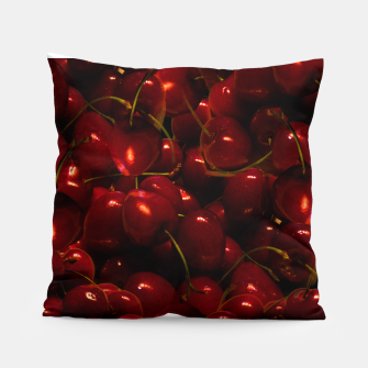 Thumbnail image of Red Cherries Throw Pillow, Live Heroes