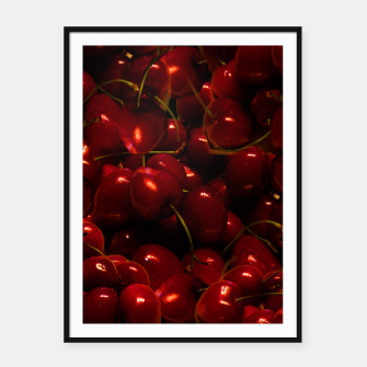 Thumbnail image of Red Cherries Framed Print, Live Heroes