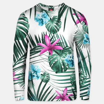 Tropical Flowers & Leaves Paradise #3 #tropical #decor #art Baumwoll sweatshirt Bild der Miniatur