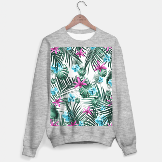 Tropical Flowers & Leaves Paradise #3 #tropical #decor #art Sweatshirt regulär Bild der Miniatur