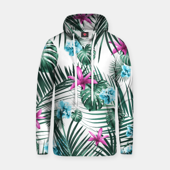 Tropical Flowers & Leaves Paradise #3 #tropical #decor #art Baumwoll Kapuzenpullover Bild der Miniatur