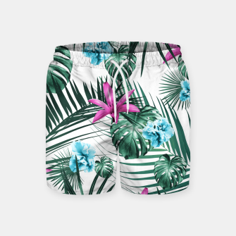Tropical Flowers & Leaves Paradise #3 #tropical #decor #art Badeshorts Bild der Miniatur