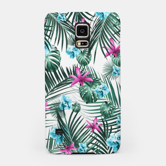 Tropical Flowers & Leaves Paradise #3 #tropical #decor #art Handyhülle für Samsung Bild der Miniatur
