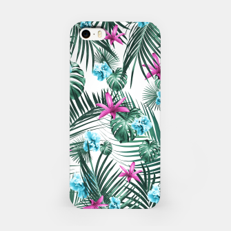 Tropical Flowers & Leaves Paradise #3 #tropical #decor #art iPhone-Hülle Bild der Miniatur