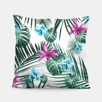 Tropical Flowers & Leaves Paradise #3 #tropical #decor #art Kissen Bild der Miniatur