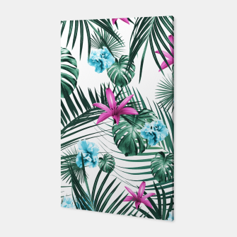 Tropical Flowers & Leaves Paradise #3 #tropical #decor #art Canvas Bild der Miniatur